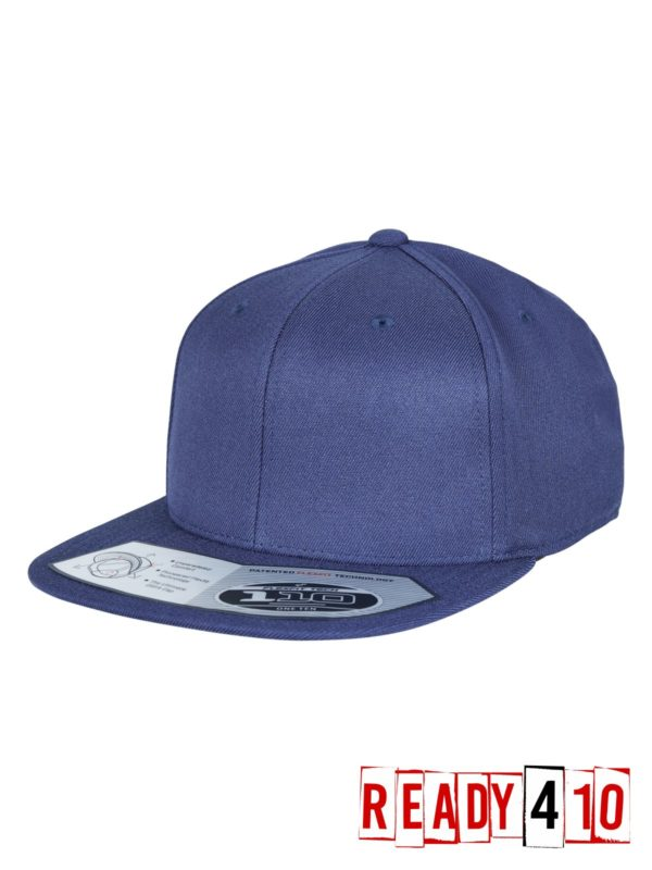 Flexfit 110 Fitted Snapback - Navy - Half Front