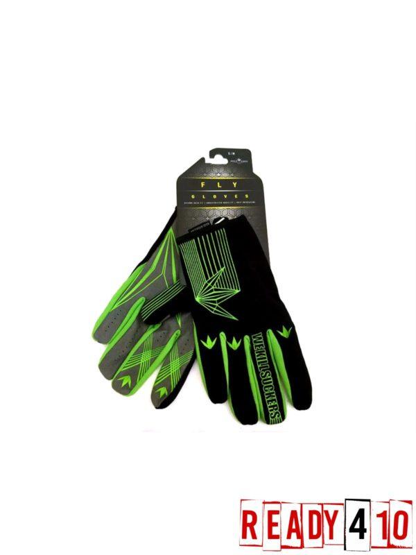 Bunkerkings Fly Paintball Gloves - Lime