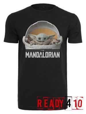 Merchcode Baby Yoda Mandalorian Logo Shirt - Front