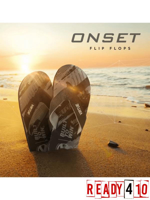 Virtue Onset Flip Flops - Graphic Black - Lifestyle