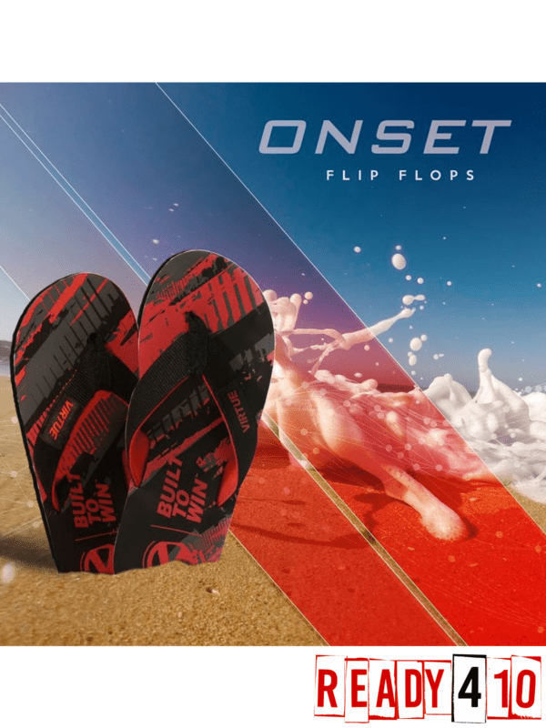 Virtue Onset Flip Flops - Graphic Red - Lifestyle