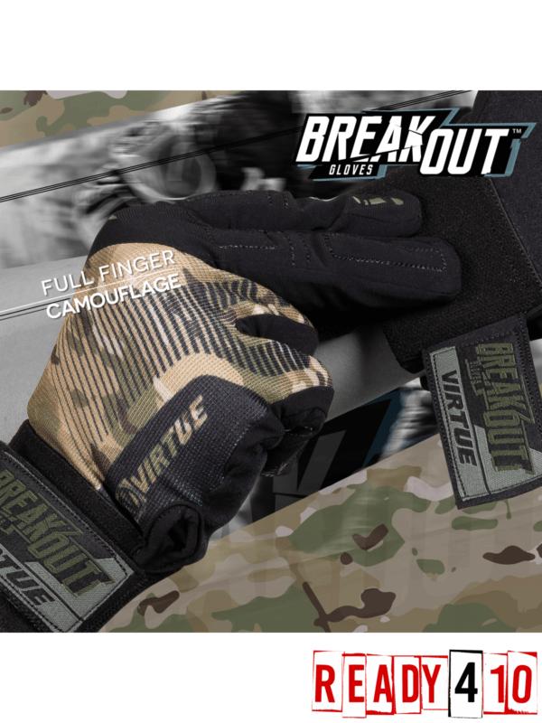 Virtue Breakout Gloves - Ripstop Full Finger - Camo - Lifestyle