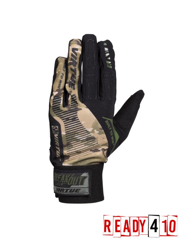 Virtue Breakout Gloves - Ripstop Full Finger - Camo - Outside