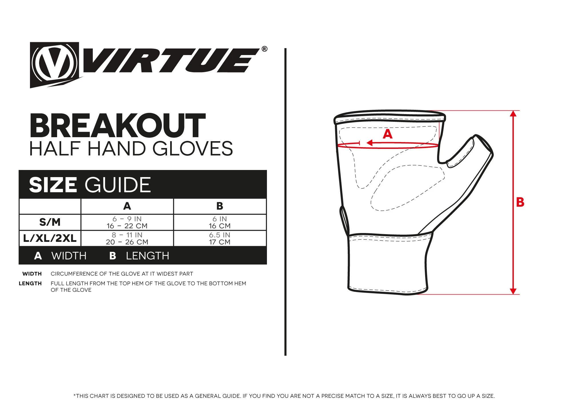 Virtue Breakot Half Hand Gloves