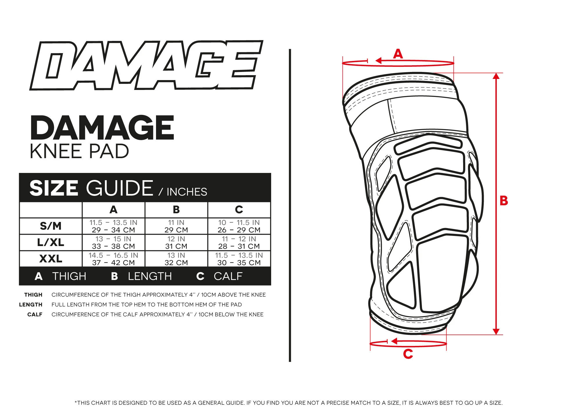 Damage Knee Pad