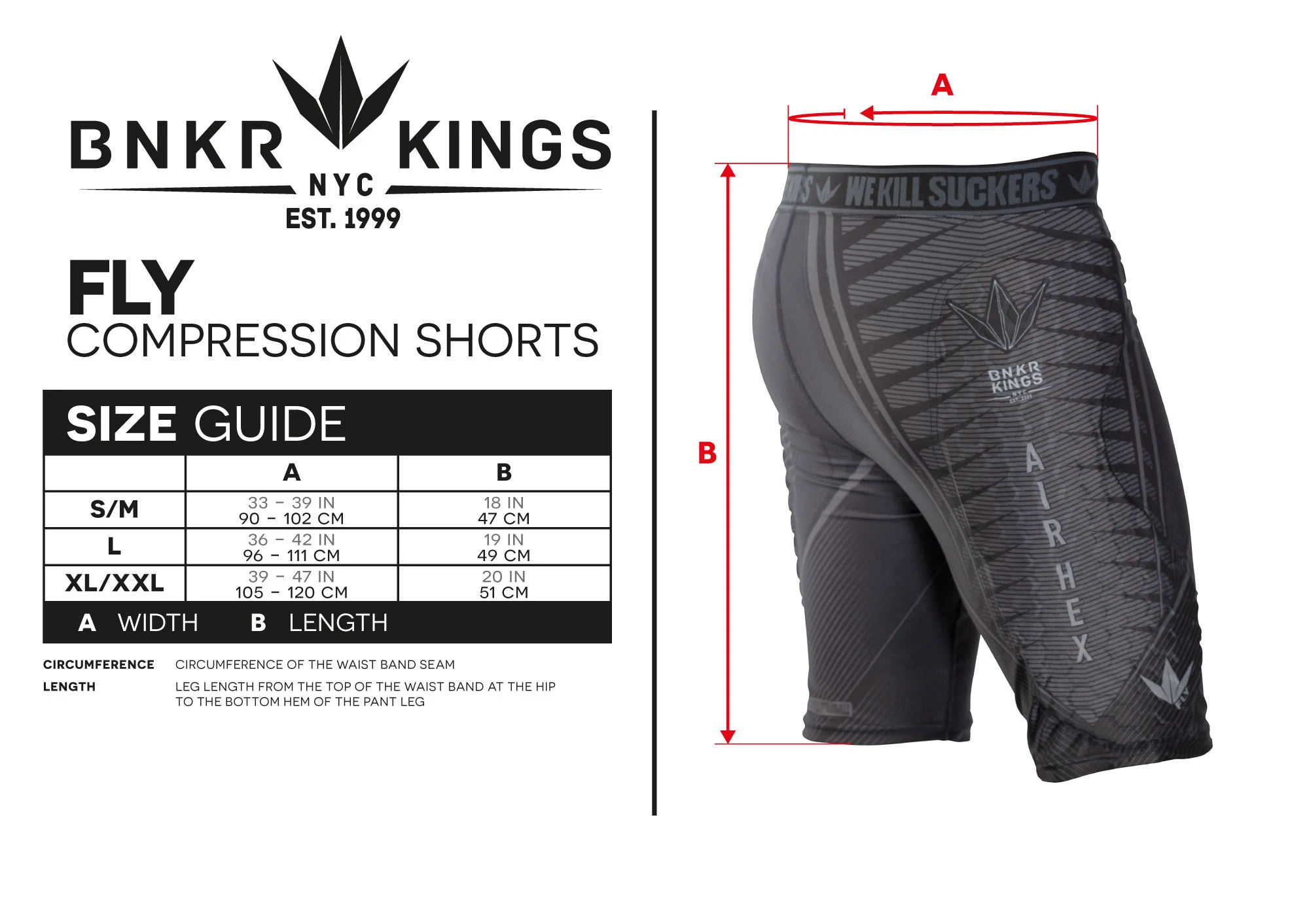 Bunkerkings Fly Compression Shorts