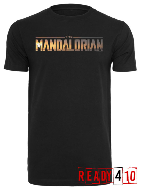 Merchcode Star Wars The Mandalorian Logo Shirt - Front