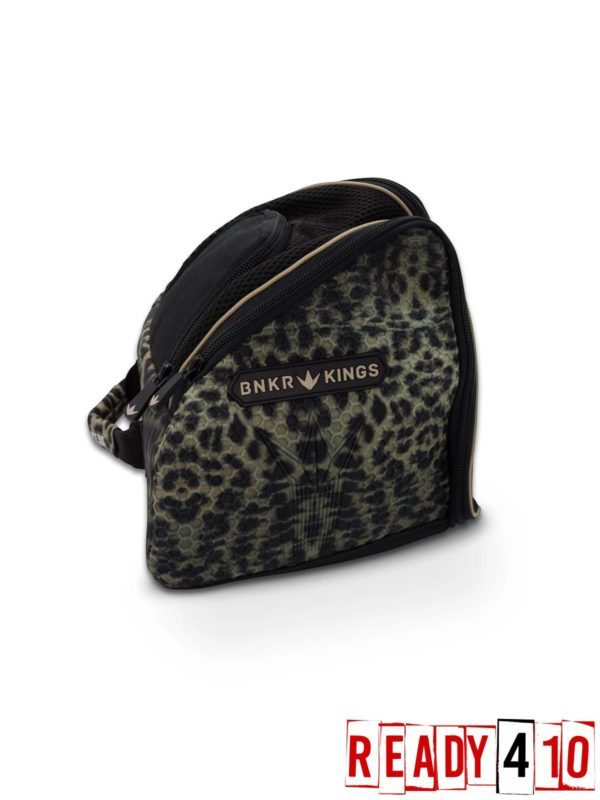 Bunkerkings Supreme Goggle Bag - Leopard Side Back
