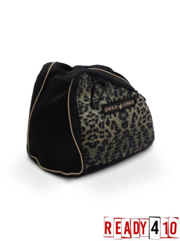 Bunkerkings Supreme Goggle Bag - Leopard Side Front