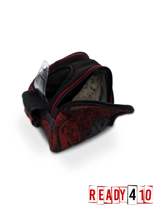 Bunkerkings Supreme Goggle Bag - Tentacles Red Open