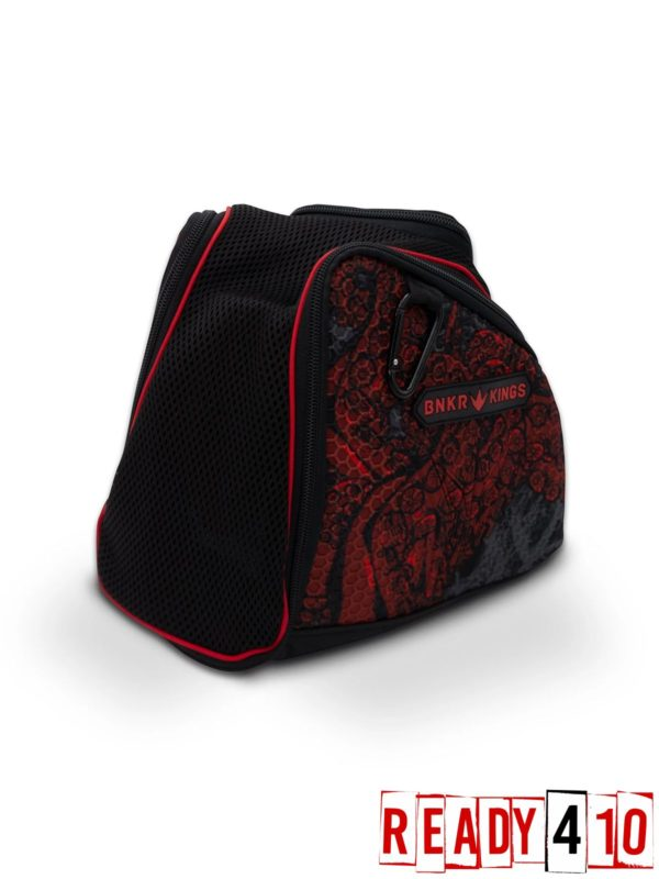 Bunkerkings Supreme Goggle Bag - Tentacles Red Side Front