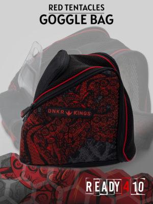 Bunkerkings Supreme Goggle Bag - Tentacles Red