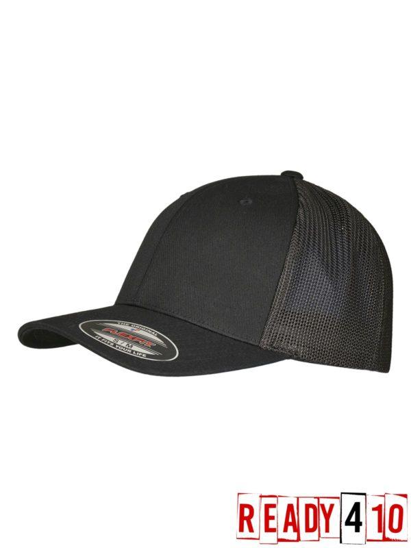 Flexfit - Trucker Recycled Mesh Patch - Black/Black