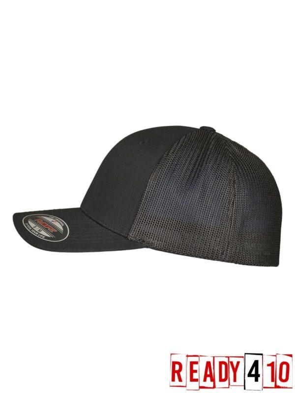 Flexfit - Trucker Recycled Mesh Side - Black/Black