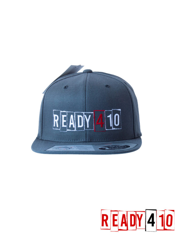 Ready410 Cap DarkGrey - Front