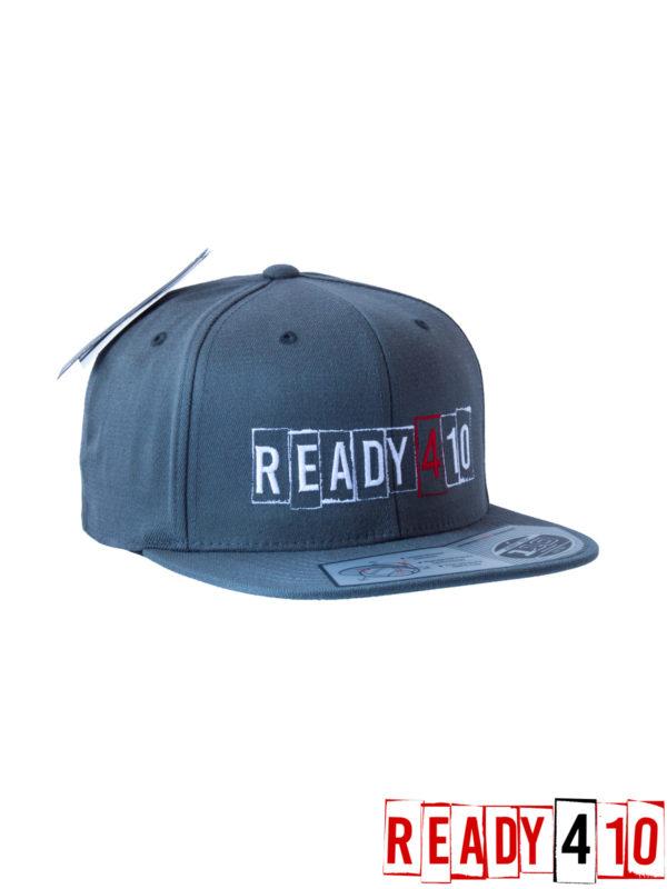 Ready410 Cap DarkGrey - Front Side