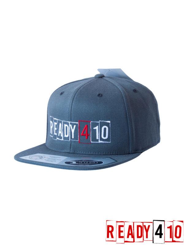 Ready410 Cap DarkGrey - Front Side 2