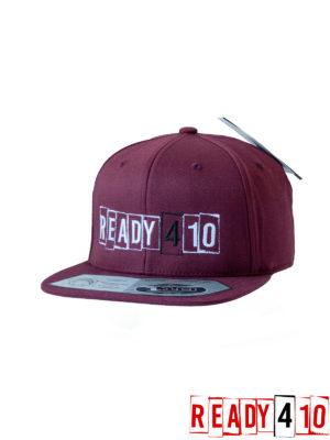 Ready410 Cap Maroon - Front Side 2