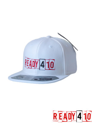 Ready410 Cap White - Front Side 2