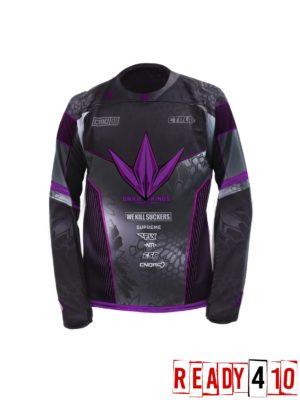 Bunkerkings Supreme Jersey - Purple/Black - Front